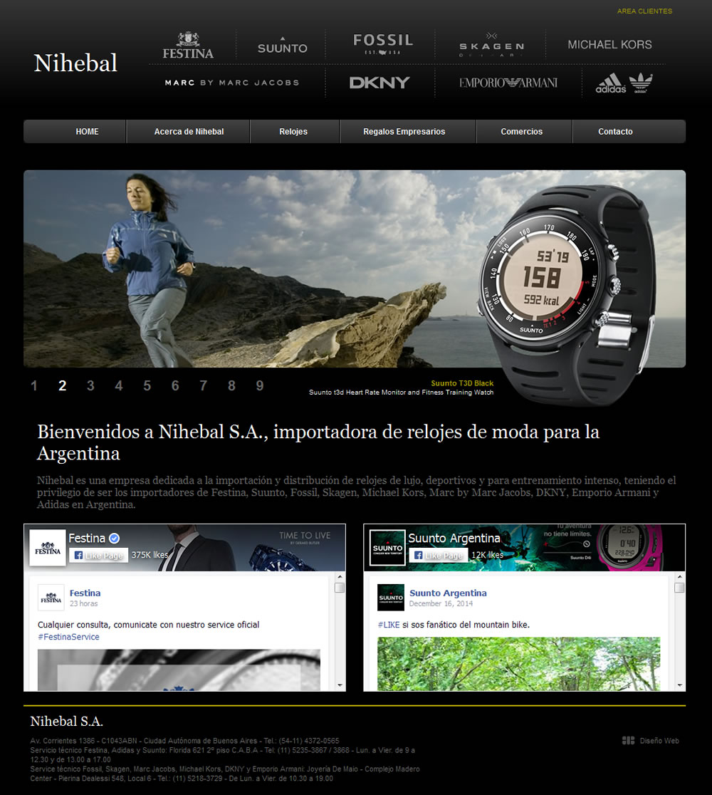 diseño website Nihebal