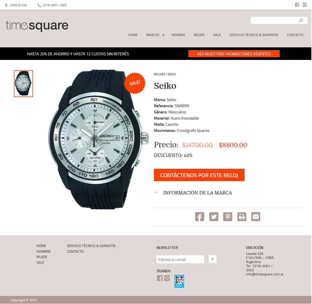 diseño website TimeSquare